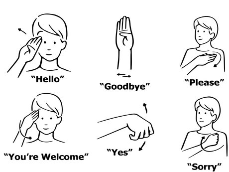 Beginner level sign language lesson