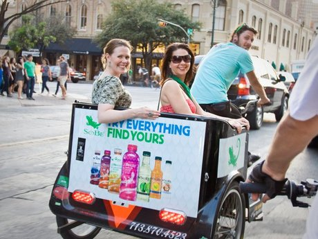 Downtown Advertising on Pedicabs