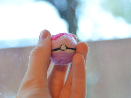 Needle Felted Pokeballs