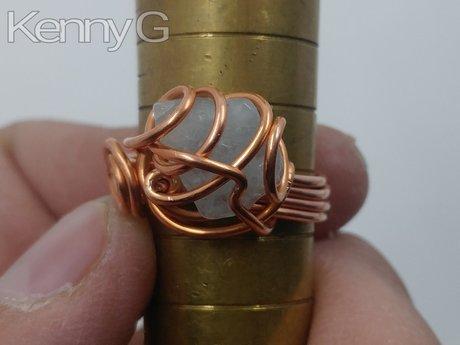 Copper wire jewellery making