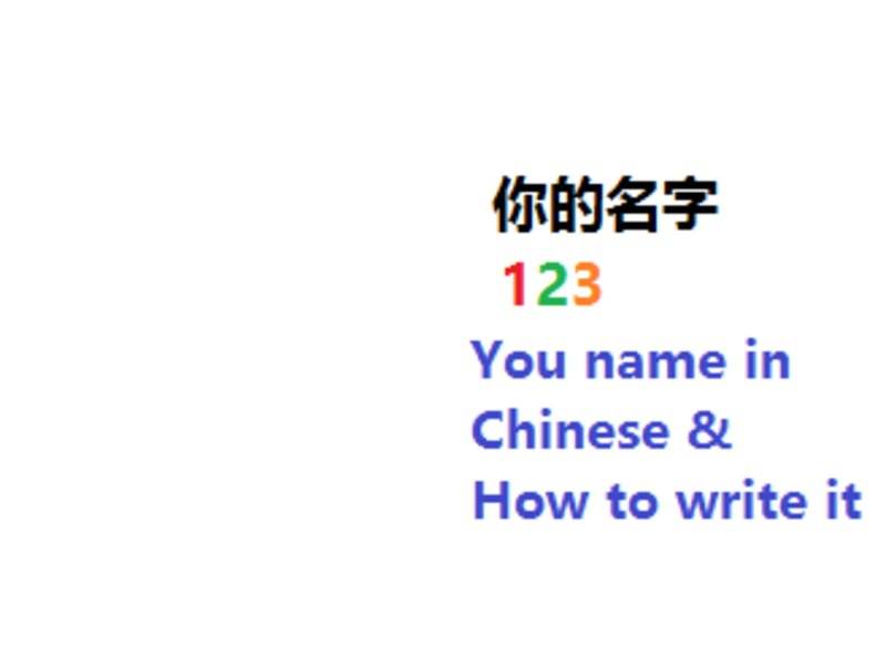 write your name in chinese With the increasing exposure to chinese culture, modern-day americans are becoming more interested in the chinese language some may even be curious as to how to go about writing their names in chinese unfortunately, chinese-english translations are not one-to-one.