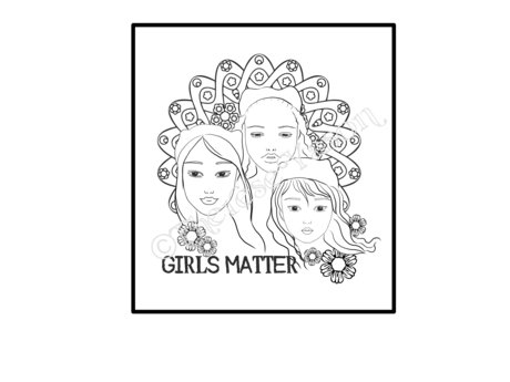 Girls Matter Coloring Page