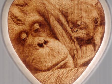 Wood burned artwork