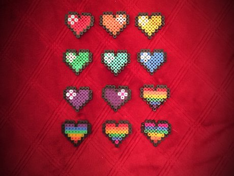 Fuse Bead Pixel Heart Free Shipping
