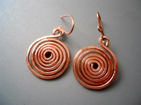 Spiral Hammered Earrings