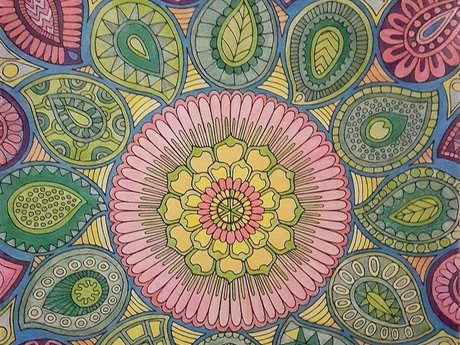 colored mandala+motivational quote