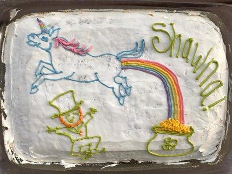 Nerdy or Fun Decorated Cake