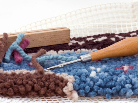 Latch hooking lessons