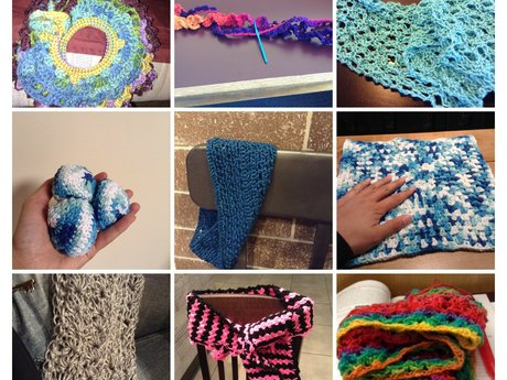1 scarf (knit or crochet)