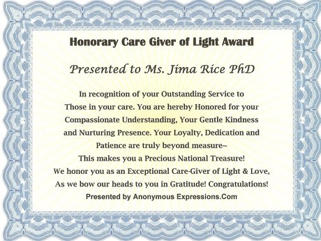 Honorary CareGiver of Light Award
