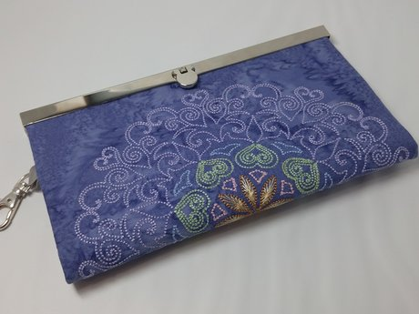 Embroidered Clutch Wallet
