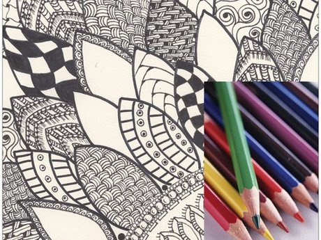 Zen Flower Coloring Page Download