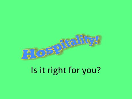 Hospitality Industry Introduction