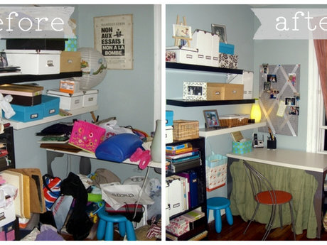 1 hour organizing (room & storage)