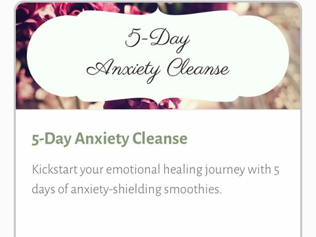 5-Day Anxiety Cleanse